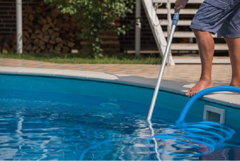 Regular pool maintenance is a must during the summer months